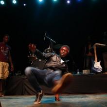 A Hip Hop dancer excites the crowds.
