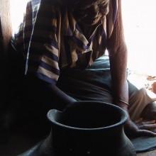 Rosalia and her son Opio's pot.