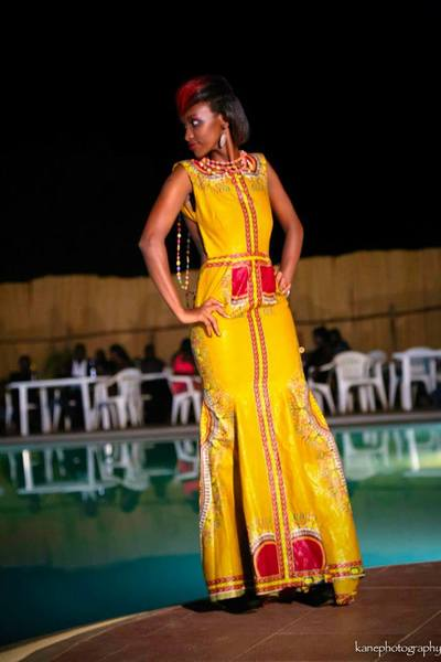 Dashiki gown in cotton