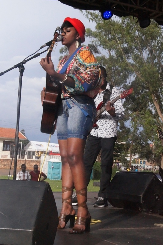 Irene Ntale. Muchomo Festival at Legends Park. Her stylist is fashion designer Brenda Maraka.