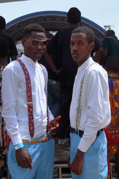 Our idea of wearing suspenders is that young people can also look smart in them. The general perception is that only old people wear suspenders. Kati-Kati. Buzz Teeniez Awards May 2nd 2015.