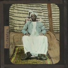 Kabaka Mwanga,  Gayaza High School Hand Coloured Lantern Slide. Courtesy of HIPUganda