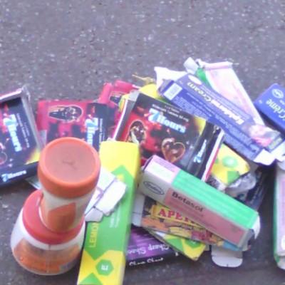 Robert Mugabe Street. A selection of skin bleaching creams on sale. Image courtesy of Karen Mukwasi